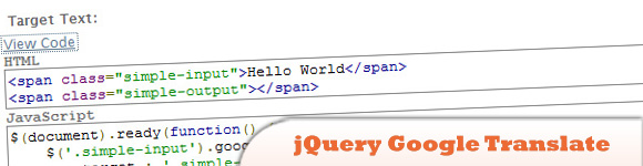jQuery Google Translate Plugin