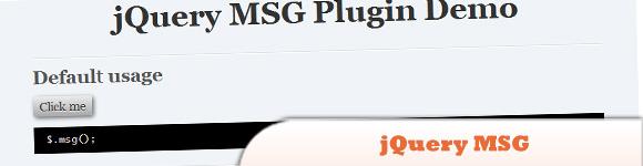 jQuery MSG plugin