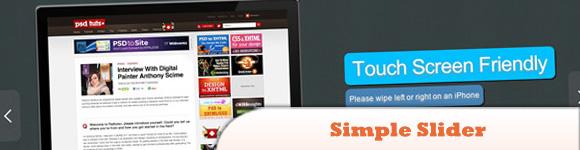 jQuery Simple Slider Plugin