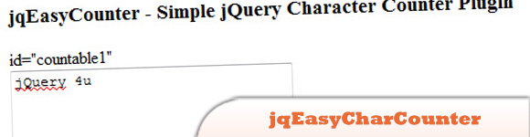 The jqEasyCharCounter