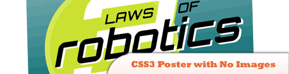 CSS3 Poster with No Images