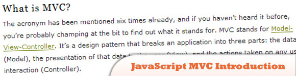 JavaScript MVC Introduction
