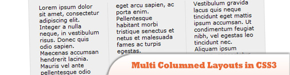 Multi Columned Layouts in CSS3