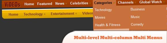 Multi-level Multi-column Multi Menus with Pure CSS