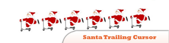 Santa Trailing Cursor or Christmas Cursor