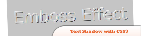 Text Shadow with CSS3