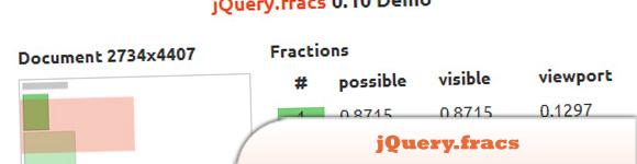 jQuery.fracs