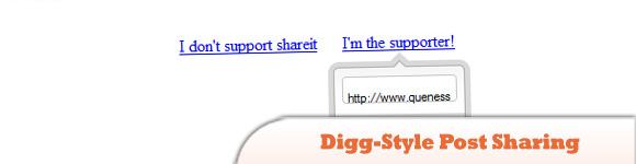 Digg-Style Post Sharing