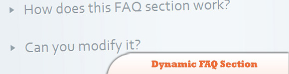 Dynamic FAQ Section