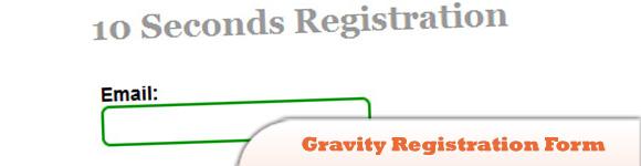 Gravity Registration Form