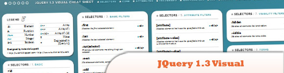 JQuery 1.3 Visual Cheat Sheet