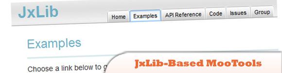 JxLib based MooTools