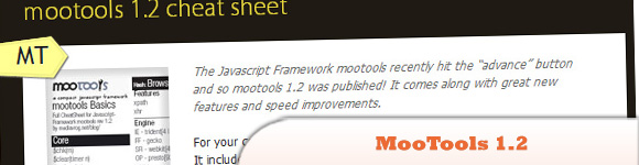 MooTools 1.2 Cheat Sheet