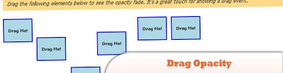 MooTools Drag Opacity