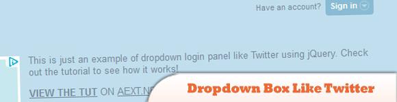 dropdown box likes Twitter