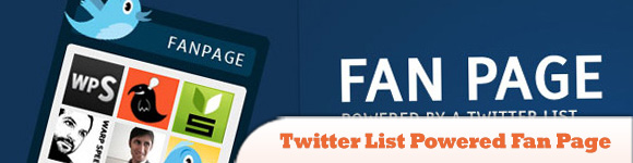 Twitter List Powered Fan Page