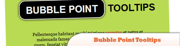 Bubble Point Tooltips