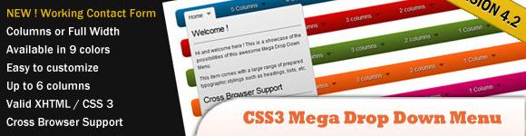 CSS3 Mega Drop Down