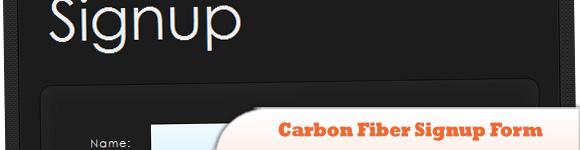 Carbon Fiber Signup Form