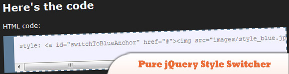 Pure jQuery Style Switcher