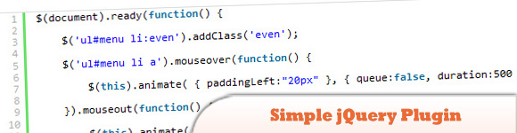 Simple jQuery Plugin