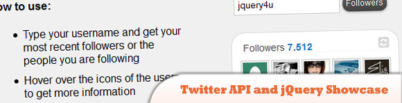 Twitter API and jQuery Showcase