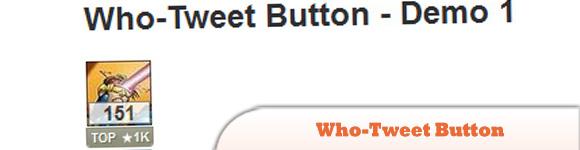 Who-Tweet Button