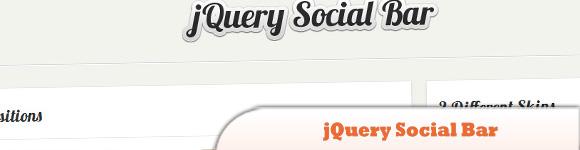 jQuery Social Bar