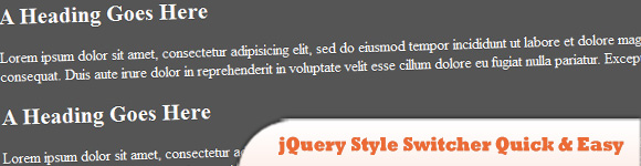 jQuery Style Switcher Quick and Easy