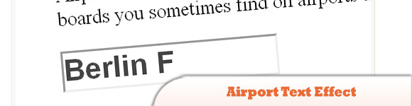 Airport Text Effect