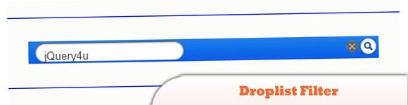 Droplist Filter