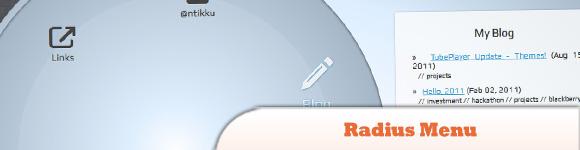 Radius menu with jQuery