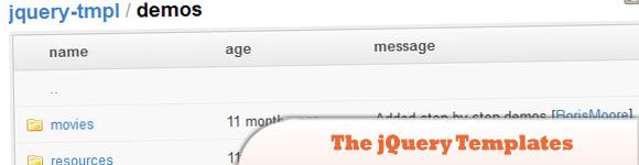 The jQuery Templates Plugin