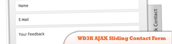 WD3K AJAX Sliding Contact Form