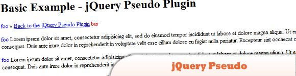 jQuery Pseudo