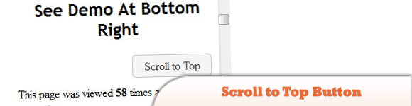 jQuery Scroll to Top Button