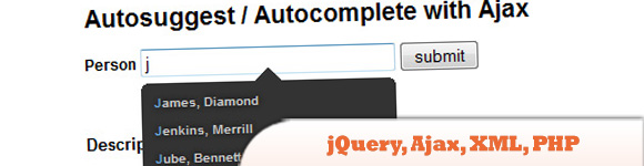 Autosuggest / Autocomplete with jQuery
