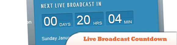 Live Broadcast Countdown