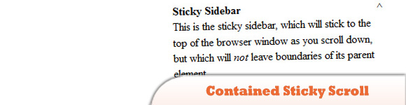 Contained Sticky Scroll Demo