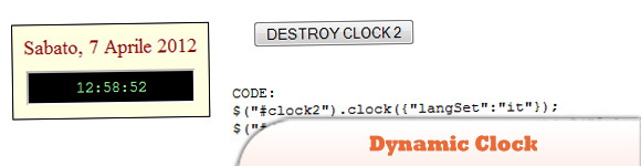 jQuery Dynamic Clock