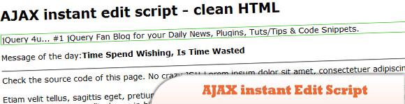 AJAX instant Edit Script