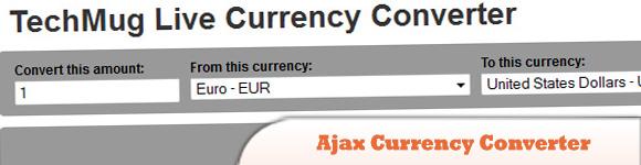 Ajax Currency Converter