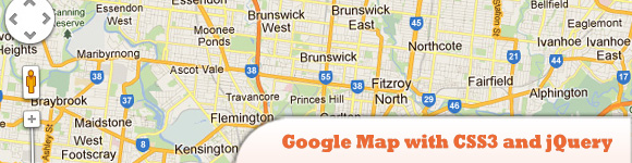 Google Map with CSS3 and jQuery