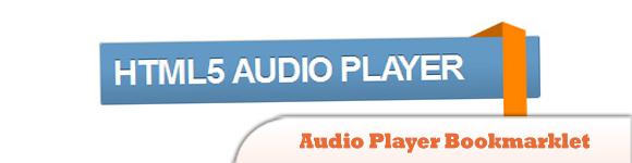 Audio Player Bookmarklet
