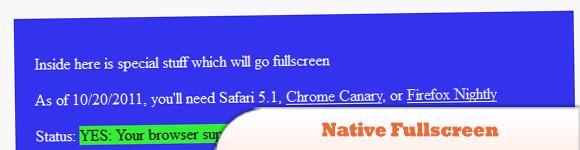 Fullscreen jQuery API