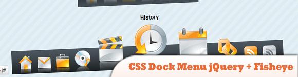 CSS Dock Menu jQuery + Fisheye