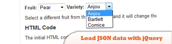 Load JSON data with jQuery