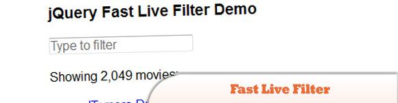 Fast Live Filter