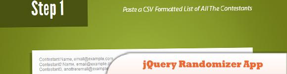 jQuery Randomizer App