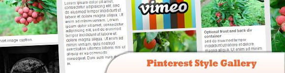 Pinterest Style Gallery